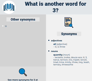 3, synonym 3, another word for 3, words like 3, thesaurus 3