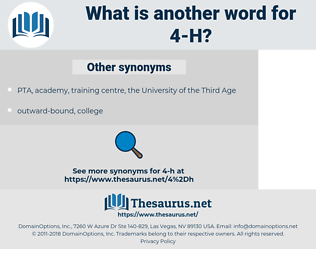 4-H, synonym 4-H, another word for 4-H, words like 4-H, thesaurus 4-H