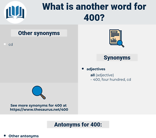 400, synonym 400, another word for 400, words like 400, thesaurus 400