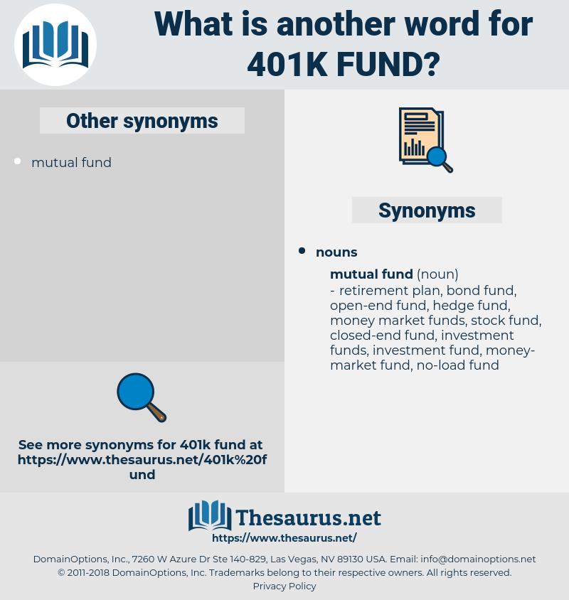 401k fund, synonym 401k fund, another word for 401k fund, words like 401k fund, thesaurus 401k fund