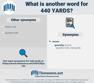 440 yards, synonym 440 yards, another word for 440 yards, words like 440 yards, thesaurus 440 yards