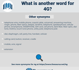 4G, synonym 4G, another word for 4G, words like 4G, thesaurus 4G