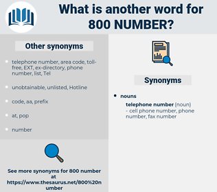 800 number, synonym 800 number, another word for 800 number, words like 800 number, thesaurus 800 number