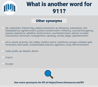 911, synonym 911, another word for 911, words like 911, thesaurus 911