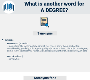 a degree, synonym a degree, another word for a degree, words like a degree, thesaurus a degree