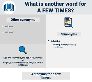a few times, synonym a few times, another word for a few times, words like a few times, thesaurus a few times