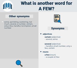 a few, synonym a few, another word for a few, words like a few, thesaurus a few