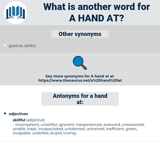 a hand at, synonym a hand at, another word for a hand at, words like a hand at, thesaurus a hand at