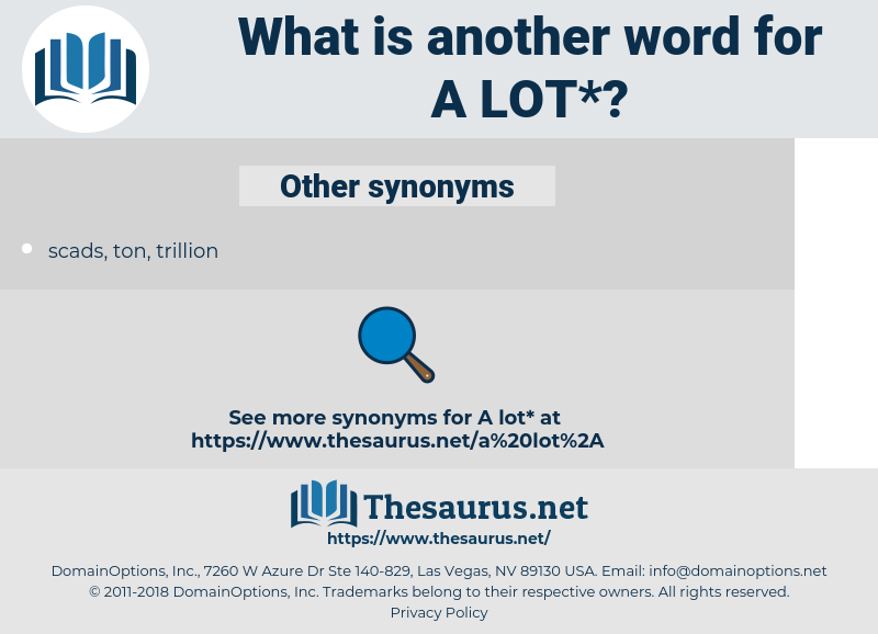 a lot, synonym a lot, another word for a lot, words like a lot, thesaurus a lot