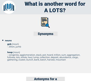 a lots, synonym a lots, another word for a lots, words like a lots, thesaurus a lots