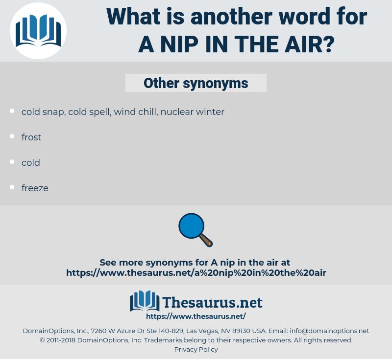 a nip in the air, synonym a nip in the air, another word for a nip in the air, words like a nip in the air, thesaurus a nip in the air