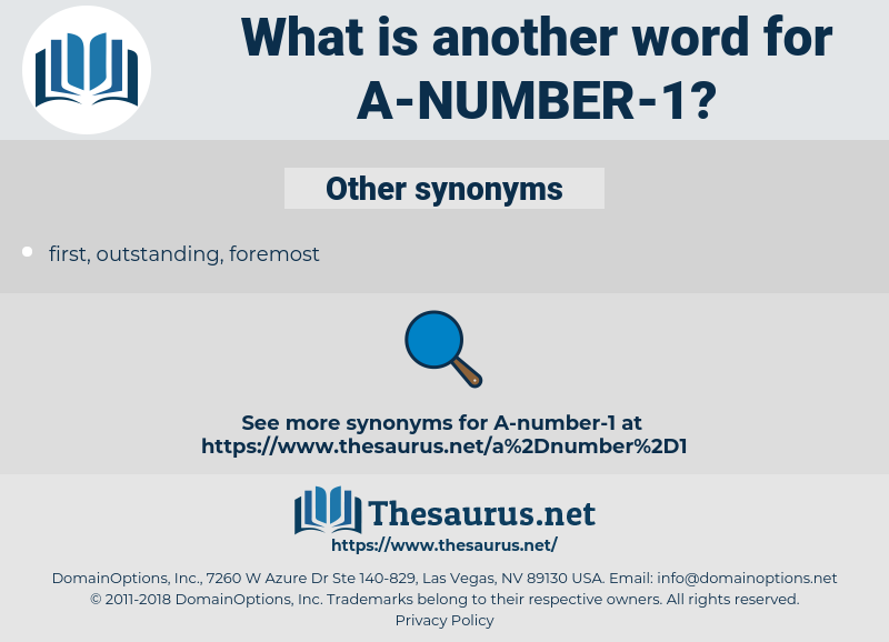 a-number-1, synonym a-number-1, another word for a-number-1, words like a-number-1, thesaurus a-number-1