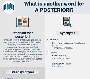 a posteriori, synonym a posteriori, another word for a posteriori, words like a posteriori, thesaurus a posteriori