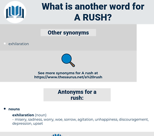 a rush, synonym a rush, another word for a rush, words like a rush, thesaurus a rush