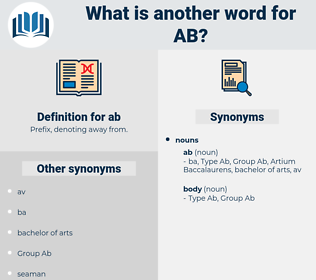 ab, synonym ab, another word for ab, words like ab, thesaurus ab