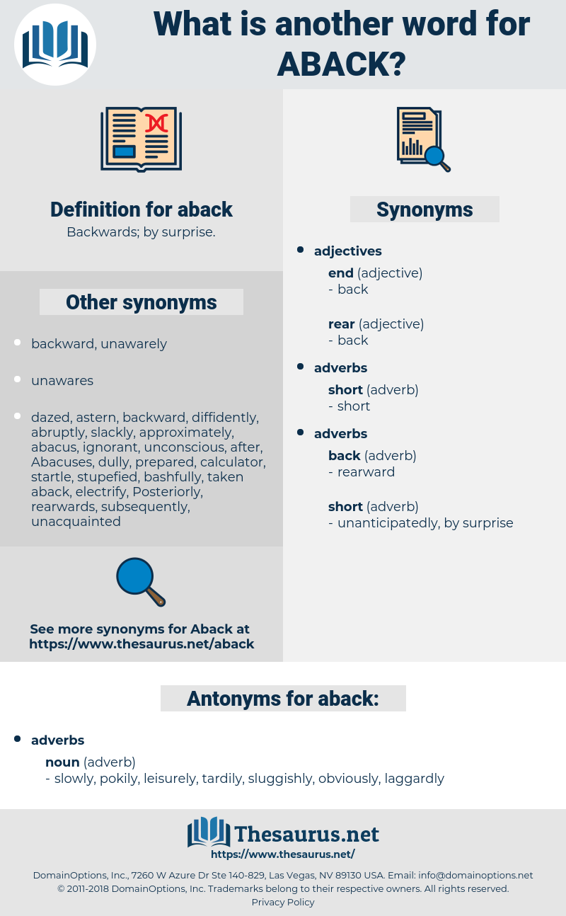 aback, synonym aback, another word for aback, words like aback, thesaurus aback