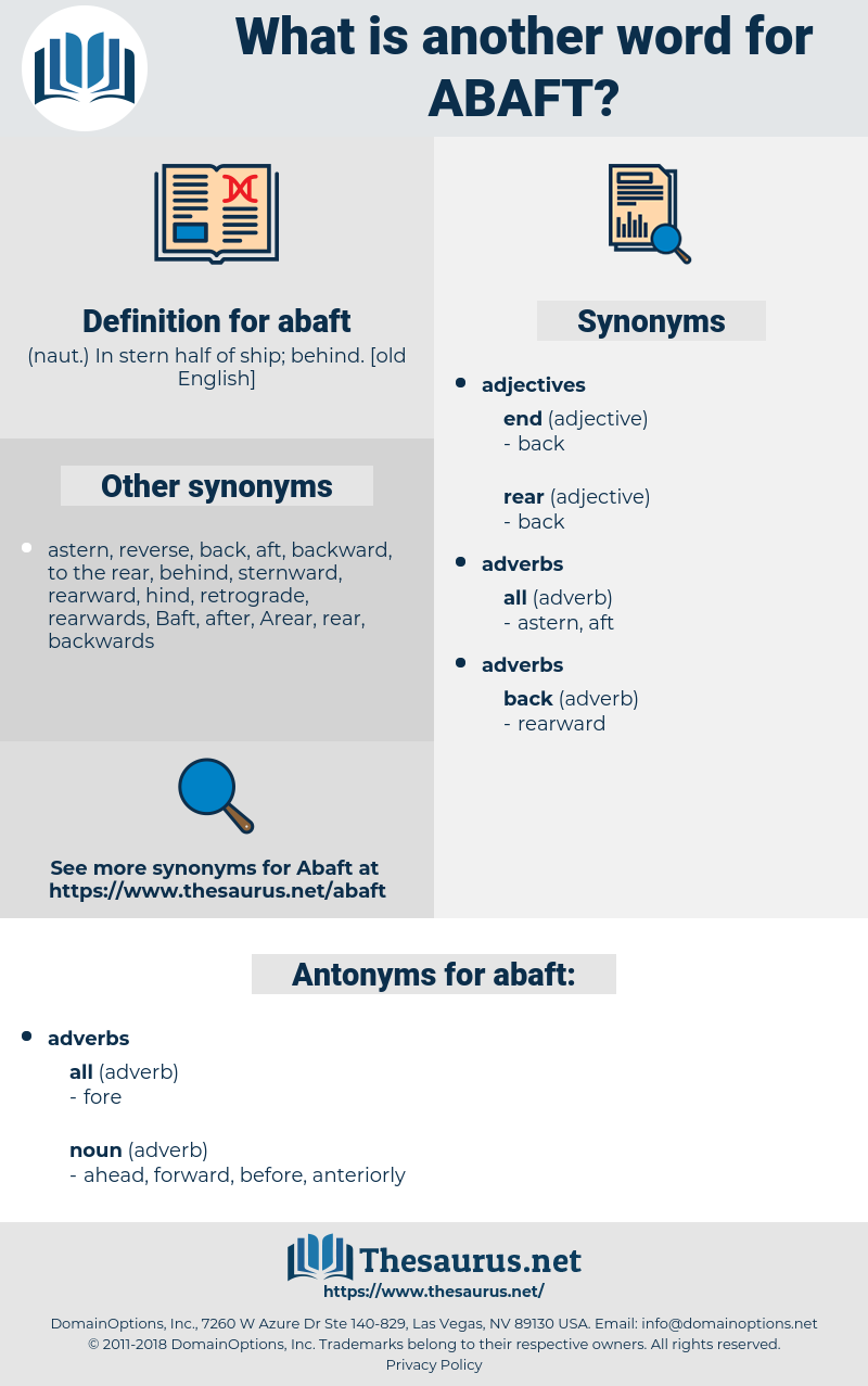 abaft, synonym abaft, another word for abaft, words like abaft, thesaurus abaft