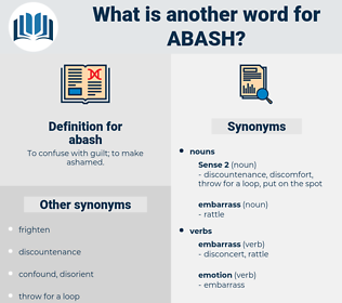 abash, synonym abash, another word for abash, words like abash, thesaurus abash