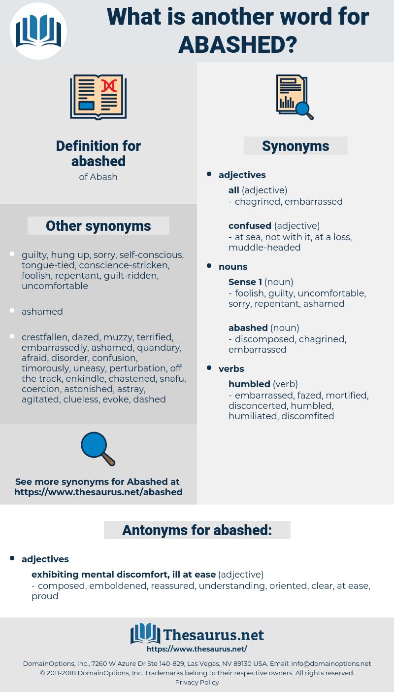 abashed, synonym abashed, another word for abashed, words like abashed, thesaurus abashed