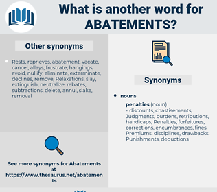 abatements, synonym abatements, another word for abatements, words like abatements, thesaurus abatements