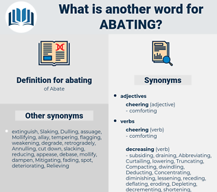 abating, synonym abating, another word for abating, words like abating, thesaurus abating