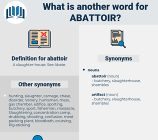 abattoir, synonym abattoir, another word for abattoir, words like abattoir, thesaurus abattoir