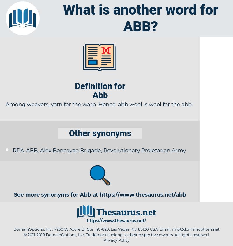 Abb, synonym Abb, another word for Abb, words like Abb, thesaurus Abb