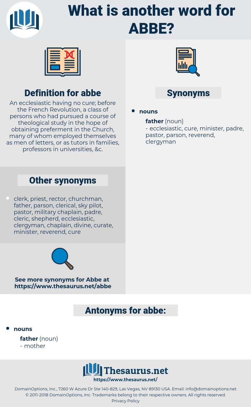 abbe, synonym abbe, another word for abbe, words like abbe, thesaurus abbe