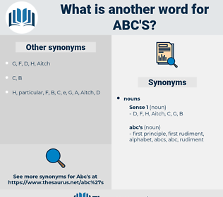 abc's, synonym abc's, another word for abc's, words like abc's, thesaurus abc's