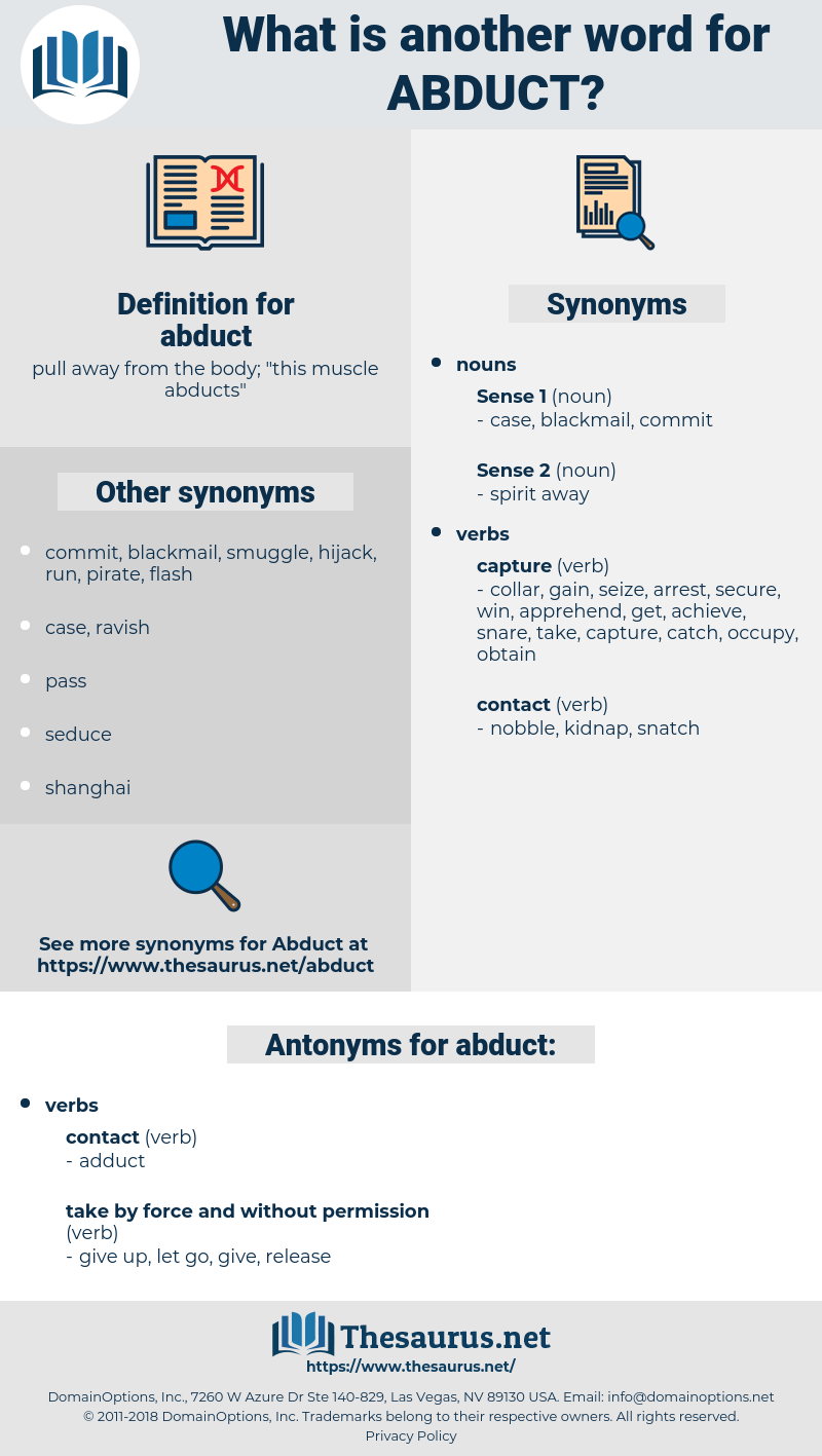 abduct, synonym abduct, another word for abduct, words like abduct, thesaurus abduct