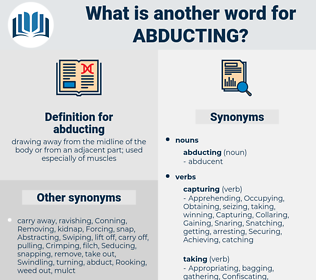 abducting, synonym abducting, another word for abducting, words like abducting, thesaurus abducting