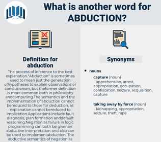 abduction, synonym abduction, another word for abduction, words like abduction, thesaurus abduction