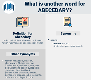 Abecedary, synonym Abecedary, another word for Abecedary, words like Abecedary, thesaurus Abecedary
