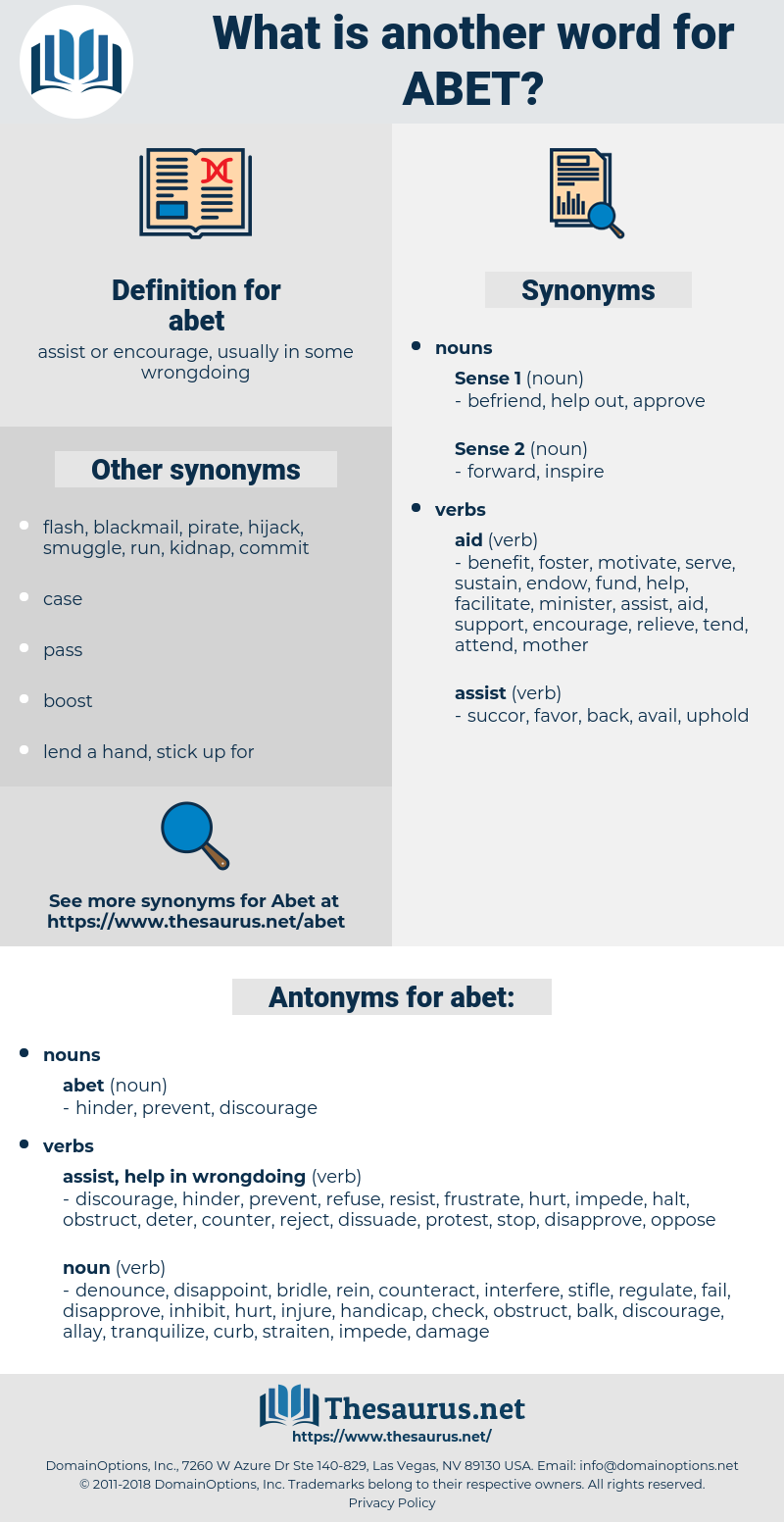 abet, synonym abet, another word for abet, words like abet, thesaurus abet