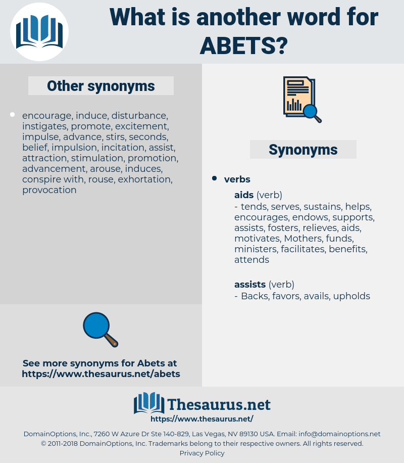 abets, synonym abets, another word for abets, words like abets, thesaurus abets