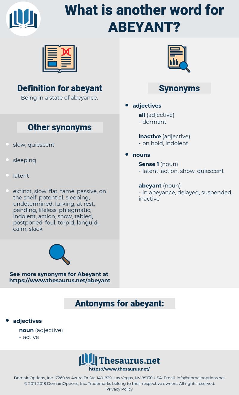 abeyant, synonym abeyant, another word for abeyant, words like abeyant, thesaurus abeyant