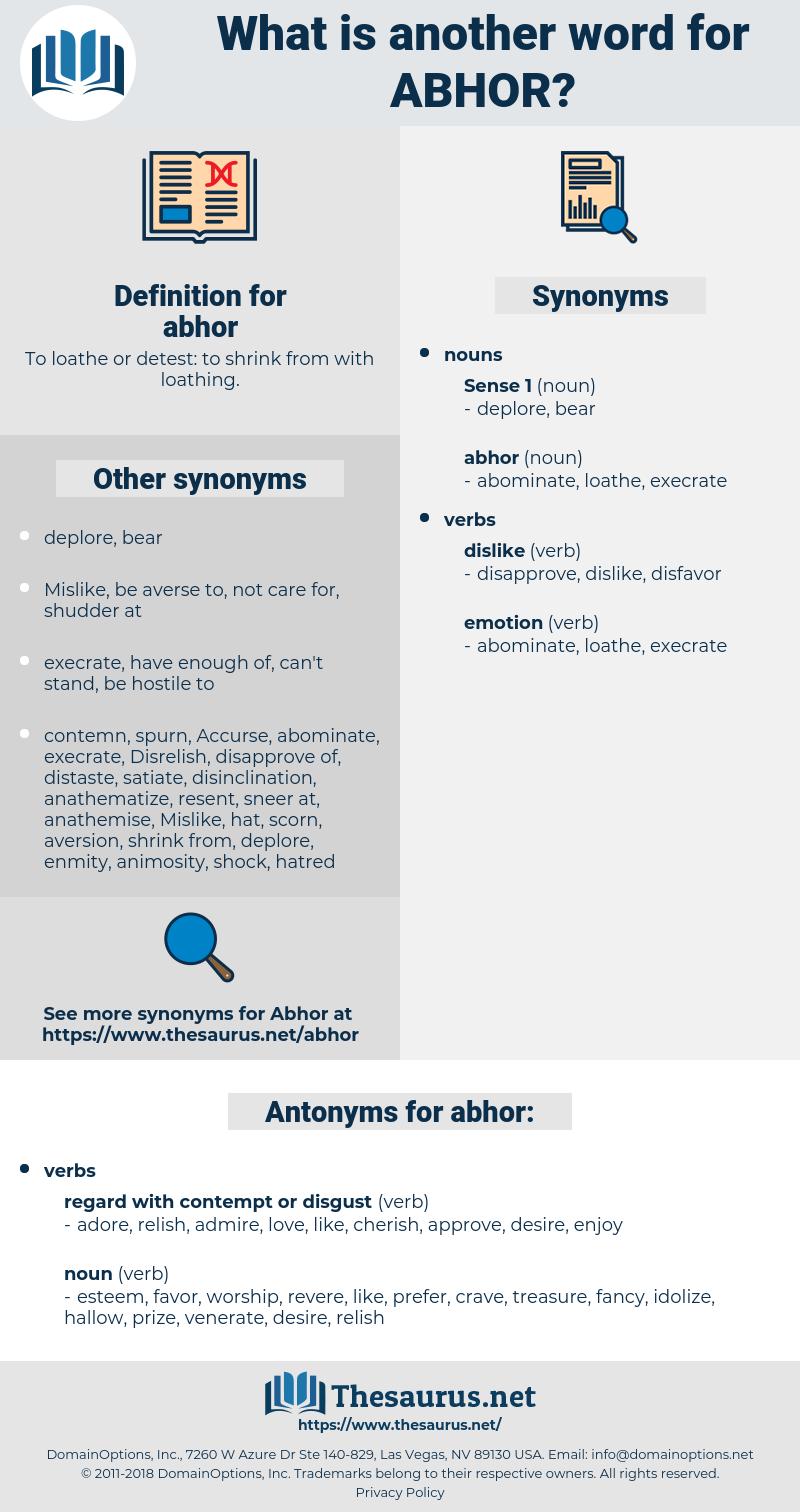 abhor, synonym abhor, another word for abhor, words like abhor, thesaurus abhor
