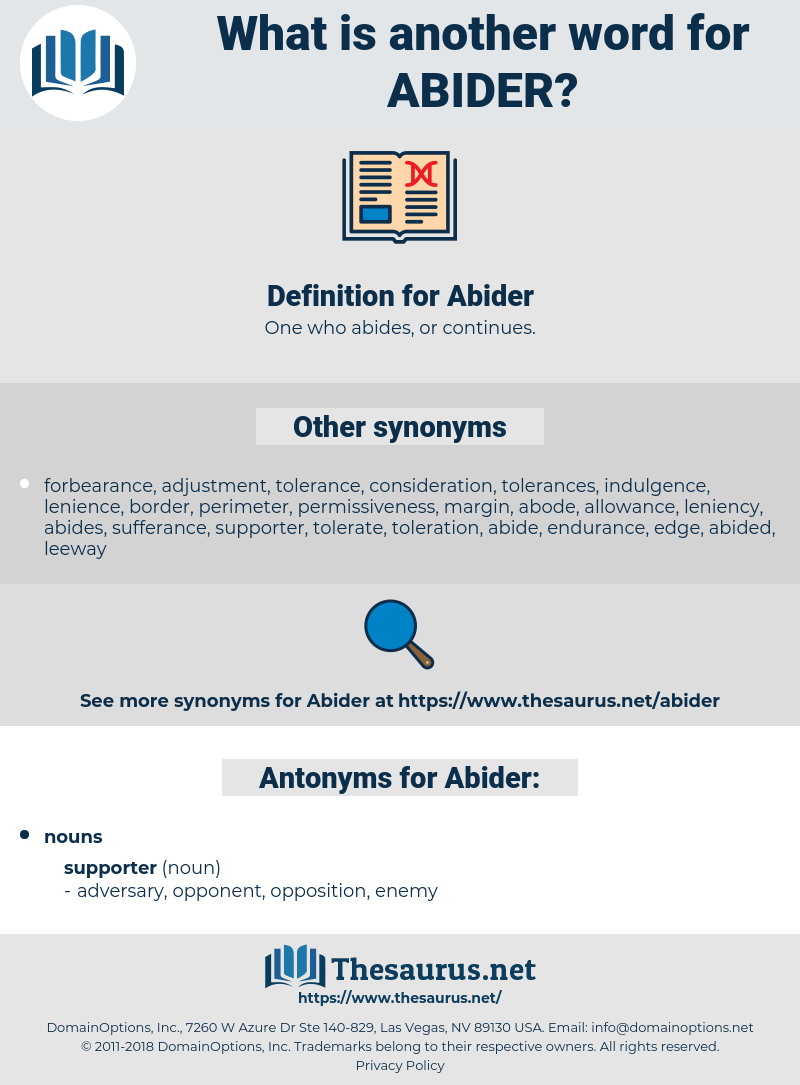 Abider, synonym Abider, another word for Abider, words like Abider, thesaurus Abider