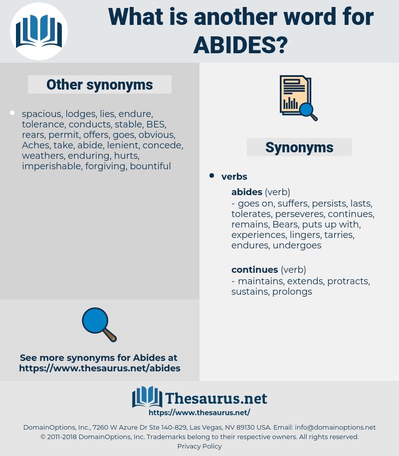 abides, synonym abides, another word for abides, words like abides, thesaurus abides