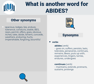 abides, synonym abides, another word for abides, words like abides, thesaurus abides