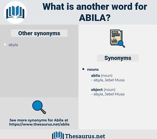 abila, synonym abila, another word for abila, words like abila, thesaurus abila