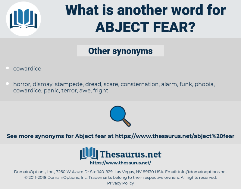 abject fear, synonym abject fear, another word for abject fear, words like abject fear, thesaurus abject fear