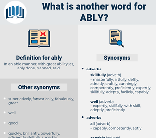 ably, synonym ably, another word for ably, words like ably, thesaurus ably