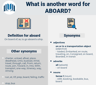aboard, synonym aboard, another word for aboard, words like aboard, thesaurus aboard