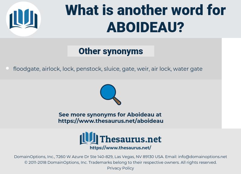 aboideau, synonym aboideau, another word for aboideau, words like aboideau, thesaurus aboideau