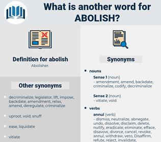abolish, synonym abolish, another word for abolish, words like abolish, thesaurus abolish