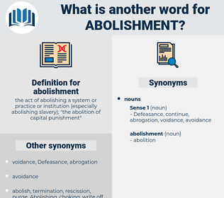 abolishment, synonym abolishment, another word for abolishment, words like abolishment, thesaurus abolishment