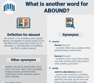 abound, synonym abound, another word for abound, words like abound, thesaurus abound