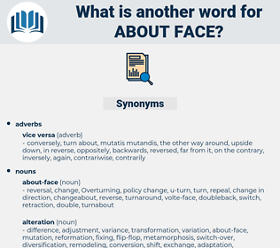 about-face, synonym about-face, another word for about-face, words like about-face, thesaurus about-face