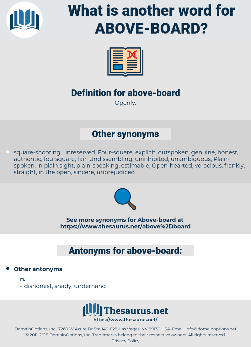 above-board, synonym above-board, another word for above-board, words like above-board, thesaurus above-board